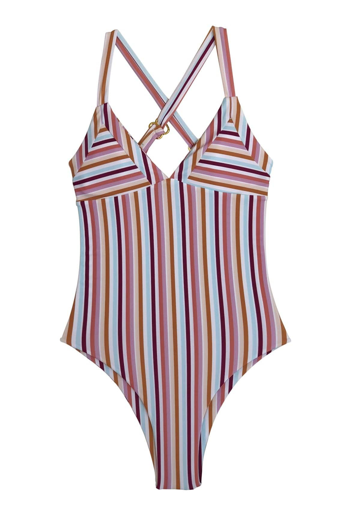 Kailua One Piece Cheeky Coverage Summer Stripe