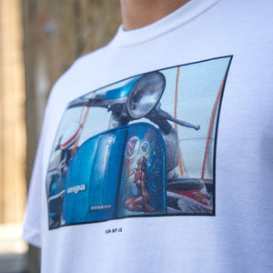 Limited Edition Vespa Print T-Shirt - White