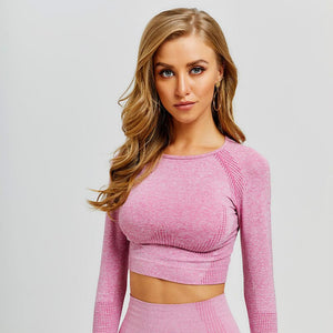 Vitality Long Sleeve Crop Top