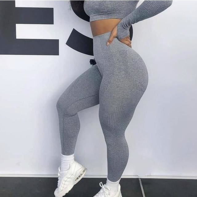003b675e8d969b ... Load image into Gallery viewer, Gradient Push Up Leggings - Grey / S ...