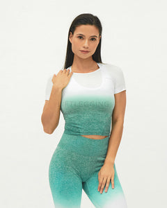 Ombre Seamless <br>Short Sleeve