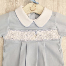 Load image into Gallery viewer, Little Swan Prince Hand Smocked Babygrow