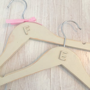 Letter Hand Painted Coat Hangers