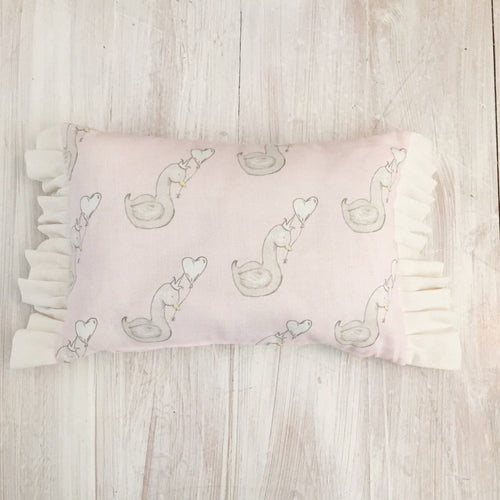 Little Swan Princess Rectangular Ruffle Cushion