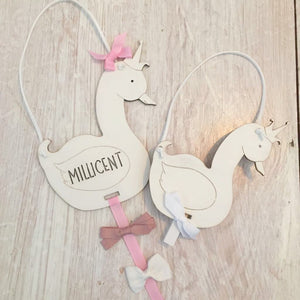 Little Swan Princess Hair Bow Holder
