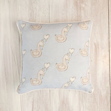 Load image into Gallery viewer, Little Swan Prince Square Piped Cushion