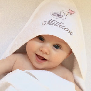 Little Swan Princess Hooded Towel