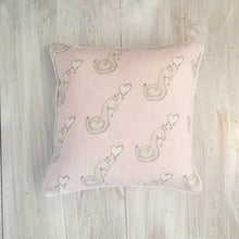 Load image into Gallery viewer, Little Swan Princess Square Piped Cushion