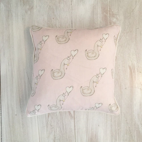 Little Swan Princess Square Piped Cushion