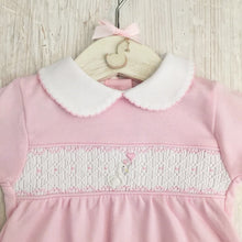 Load image into Gallery viewer, Little Swan Princess Hand Smocked Babygrow