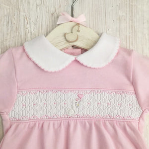 Little Swan Princess Hand Smocked Babygrow