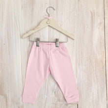 Load image into Gallery viewer, Little Swan, Pink, Baby, Pima Cotton, Soft, Luxury, Toddler, Trousers, with Cuffs or feet, Picot trim Traditional Clothing