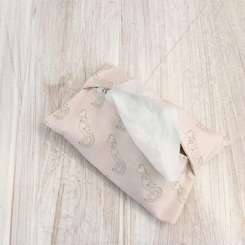 Wet Wipe | Pouch | Purse | Holder | Luxury Changing Bag | Organiser | Baby Girl | Linen | Swan | Princess