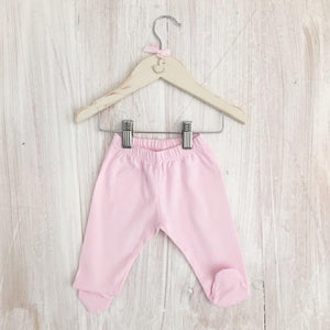 Little Swan, Pink, Baby, Pima Cotton, Soft, Luxury, Toddler, Trousers, with Cuffs or feet, Picot trim Traditional Clothing