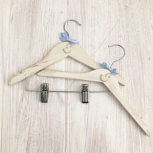 Load image into Gallery viewer, Baby and Children's Coat Hanger | Little Swan | Hand Painted | Shabby Chic | Nursery Decor | Christening Gift | Baby Gift | Nursery Decor