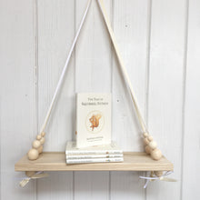 Load image into Gallery viewer, Natural Wooden Swing Shelf, Natural Beads