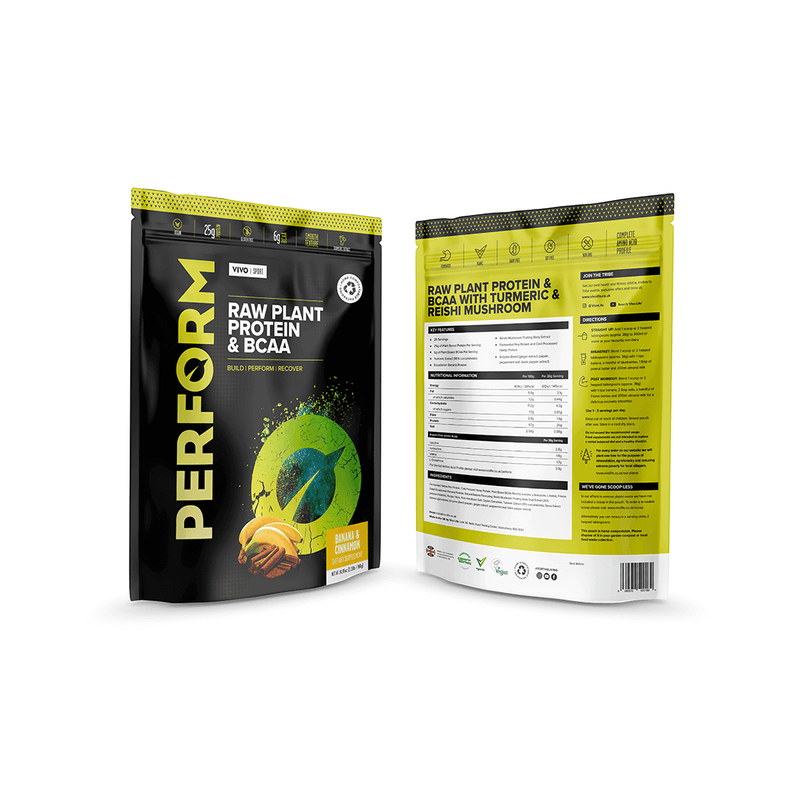 Banana & Cinnamon Perform Pouch 2019 front & back