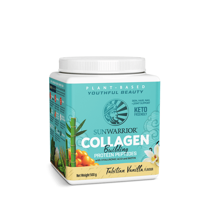 Sunwarrior Collagen Building Peptides Vanilla 500g tilted