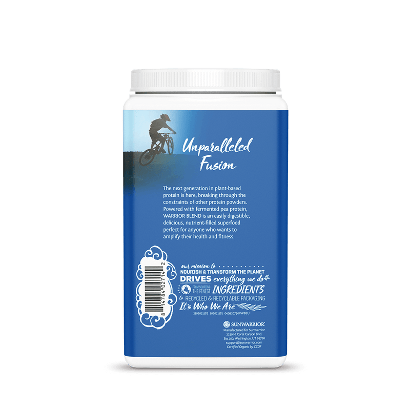 Warrior Blend Vanilla 750g back