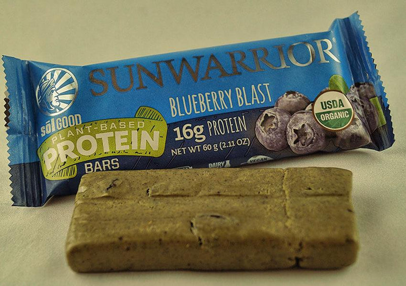 Blueberry Blast single protein bar unwrapped