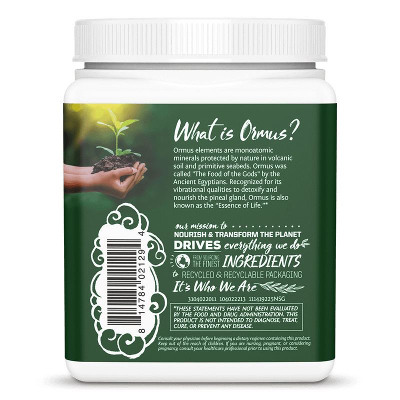 Ormus Supergreens Natural 225g back