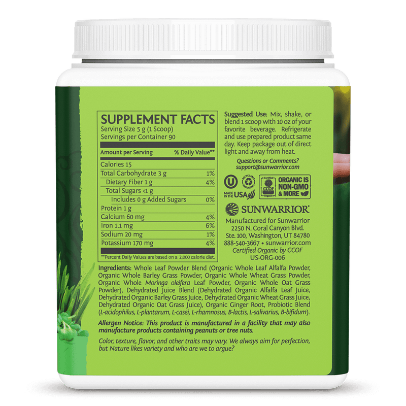 SuperGreens Natural 450g ingredients