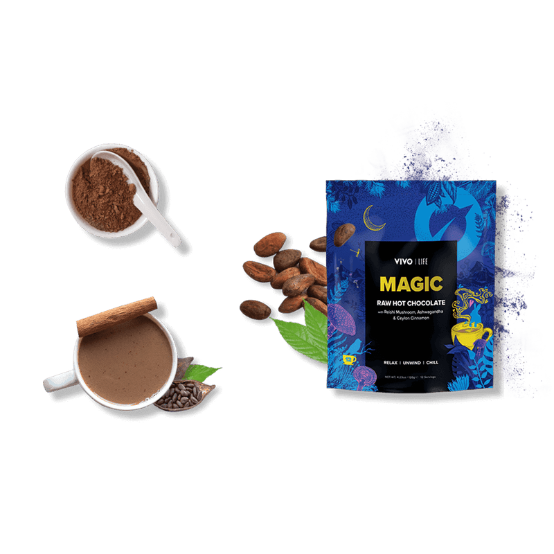 Vivo Life MAGIC - RAW HOT CHOCOLATE Latte ingredients