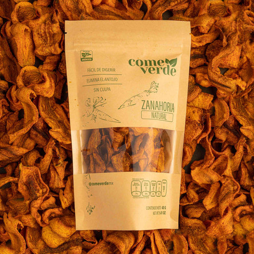 COME VERDE CHIPS DE VERDURA ZANAHORIA NATURAL