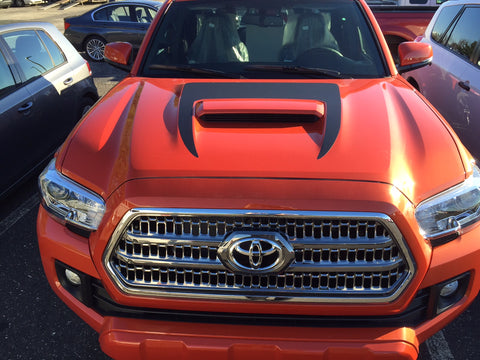 Toyota Tacoma 2016 Hood Scoop Stripe Graphic Decal