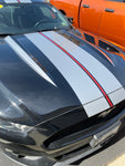 Hood Spear Decals ONLY for a 2015 - 2018 Ford Mustang