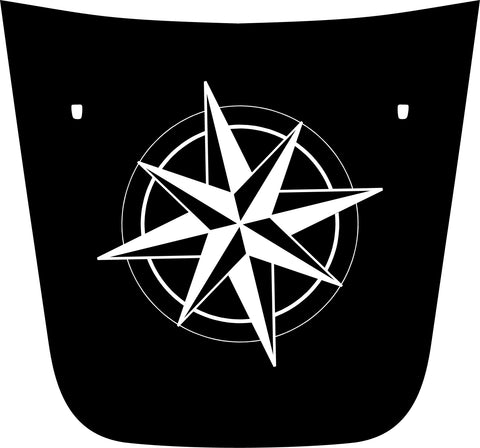 "Hood ""Compass"" Decal Cover for 2017-2021 Jeep Compass"