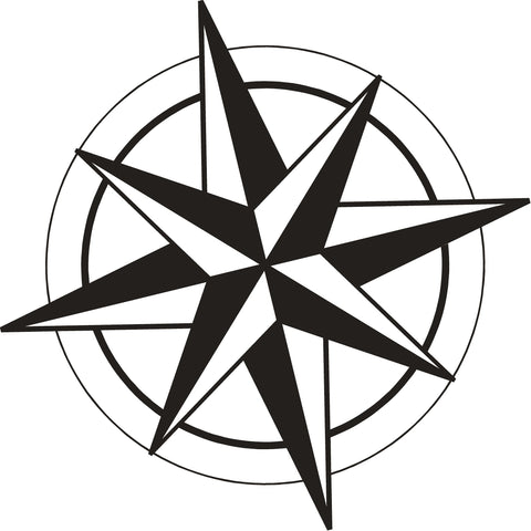 "Side ""Compass"" Sail Panel Decal for 2017-2021 Jeep Compass (x2)"
