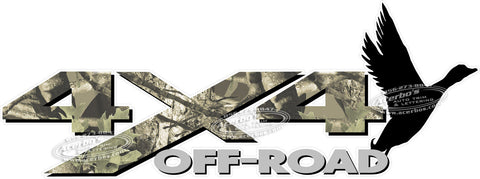 4x4 Off Road Duck Hunting Camouflage Decal