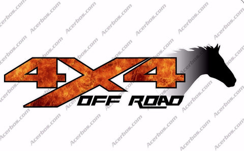 4x4 Off Road FIRE Forest Horse Head TRUCK Decal/Sticker