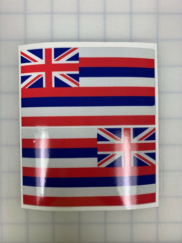 "5"" Hawaii State Flag 3M Reflective Flag Decal set"