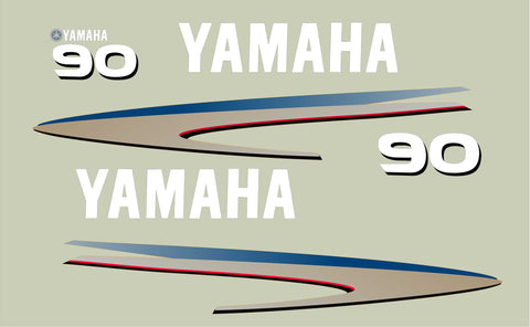 Replacement Decal Kit for Yamaha Outboard Motor (40-90HP)