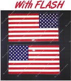 "5"" American Flag 3M REFLECTIVE Decal set"