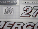 Mercury Verado 275HP Decal Kit