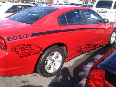 Dodge Charger 2011 - 2014 Body Stripes,Side Graphics. Set of 2