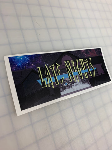 "8"" Late Nights JDM Slap Sticker Decal - Rick and Morty"