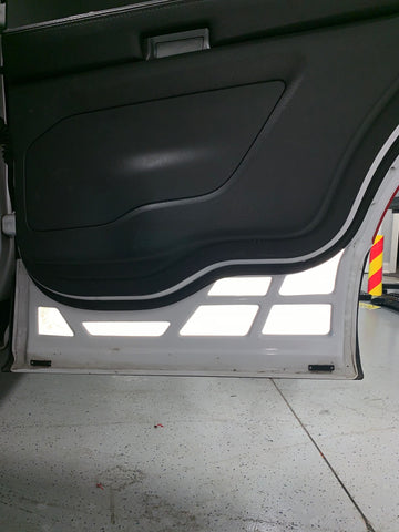 2011 - 2019 Ford Explorer 3M Reflective Safety REAR Door Inserts (x2)