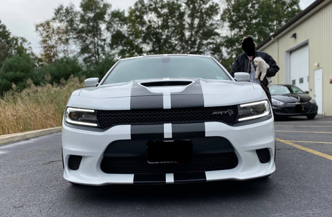 Complete Ground to Ground Racing Stripe Kit for 2015-2021 Dodge Charger