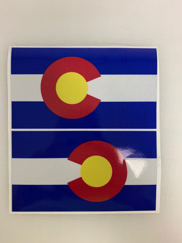 "5"" Colorado 3M Reflective Sate Flag Decal set"