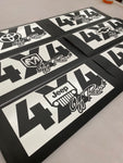 4x4 Off Road Vinyl Cut Decal Graphic Set