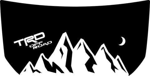 "Hood ""TRD Off Road"" Mountain Decal Cover for 2007-2020 Toyota FJ Cruiser"