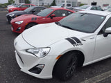 Toyota Scion FR-S 2015 Fender Hood Decal Vinyl Graphic Stripes