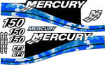 "CAMOUFLAGE Replacement Decal Kit For Mercury ""150HP"" Outboard Motor"