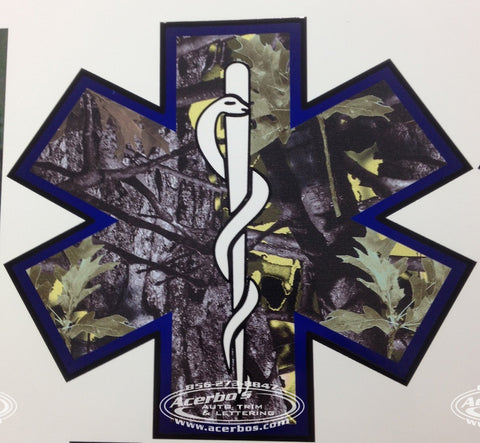 EMS/EMT Star of Life Camo (Camouflage) Decal