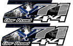 Z71 Off Road 4 x 4 Air Force Military Grey Set of 2 Truck Decals/Stickers