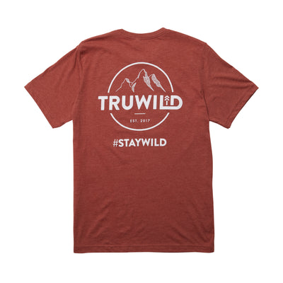 TRUWILD TEE-  HEATHER CLAY